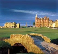 Swilcan Bridge on the St Andrews Old Course