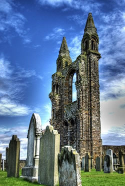 The ruins of St Andrews Cathedral