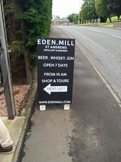 The doors are open to visitors at the Eden Mill Brewery and Distillery
