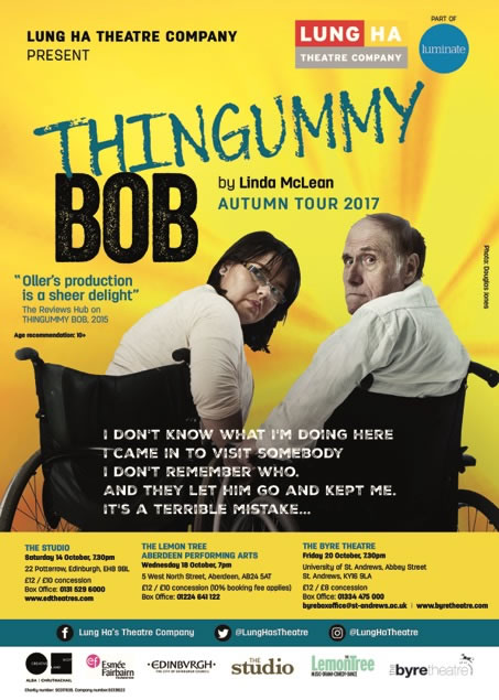 Lung Ha Theatre's Thingummy Bob, a show which will visit St Andrews on 20 October